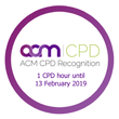 ACM accreditation logo: 1 hour until Feb 2019